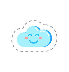 cloud modern web technologies storage patch vector image