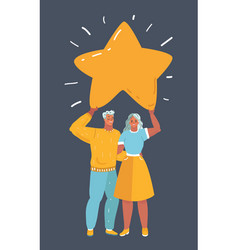 couple with star vector image