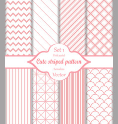 cute pink seamless pattern set 1 vector image
