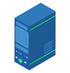 database block with information storage system vector image