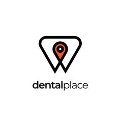 dental place logo design symbol templatede vector image