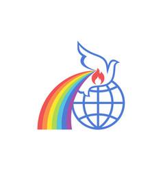 Earth dove is symbol spirit vector