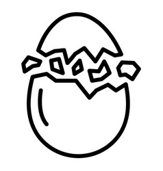Eggshell crack icon outline style vector