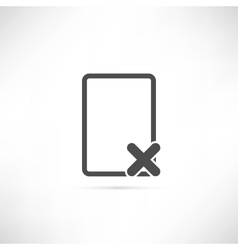 Empty Delete Icon vector image