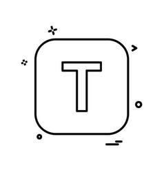 english alphabets icon design vector image