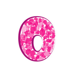 English pink letter o on a white background vector