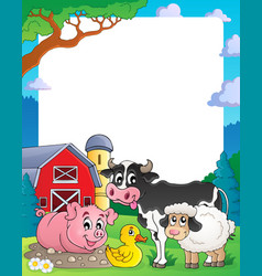 farm theme frame 2 vector image