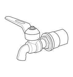 Faucet out line vector