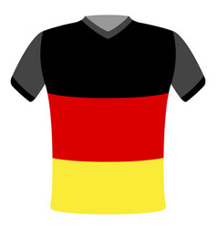 flag t-shirt of germany vector image