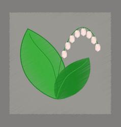Flat shading style plant convallaria vector