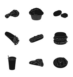 food lunch fast and other web icon in black vector image