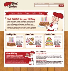 Food Recipes Template vector image vector image