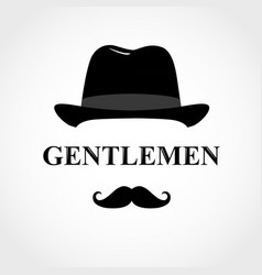 Gentleman icon icon man isolated on white vector