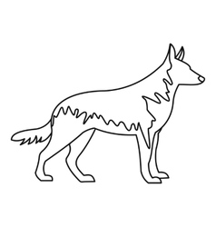 German wolfhound icon outline style vector