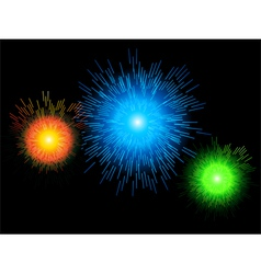 Glowing firework background vector image