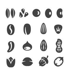 grainnutseed icon set vector image