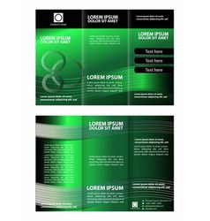 Green brochure tri fold template vector