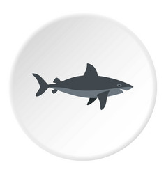 Grey shark fish icon circle vector