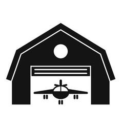 Hangar terminal icon simple style vector