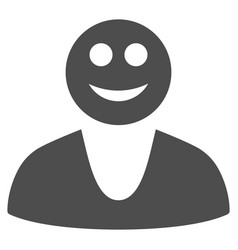 happy guy flat icon vector image