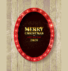 happy new year 2020 and merry christmas vector image