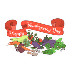 happy thanksgiving day poster template with vector image