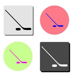 hockey flat icon vector image