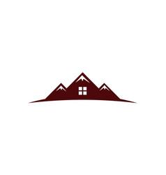 Home mountain vector