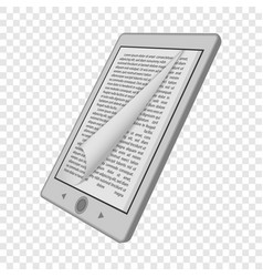 ink reader tablet mockup realistic style vector image