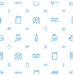 label icons pattern seamless white background vector image