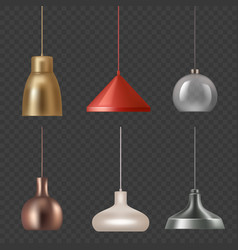 lamp realistic hanging luxury interior decoration vector image