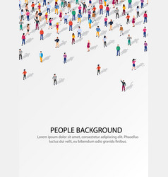 Large group people on white background people vector