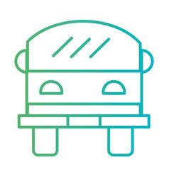 line bus transportation vehicule drive vector image