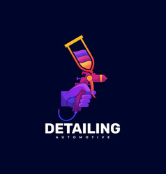 Logo detailing gradient colorful style vector