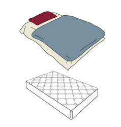 Mattress and bedding vector