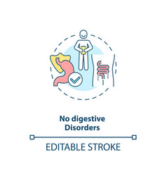 No digestive disorders concept icon vector