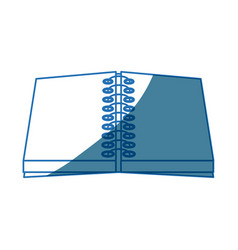 Open notebook spiral write supply work vector