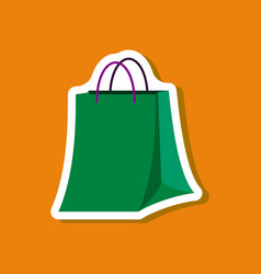 paper sticker fashion clothes paper bag vector image