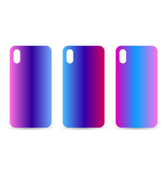 phone case set with gradient backgrounds blurred vector image