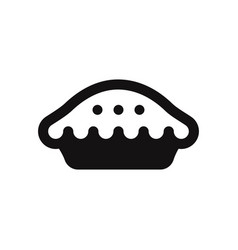 Pie icon vector