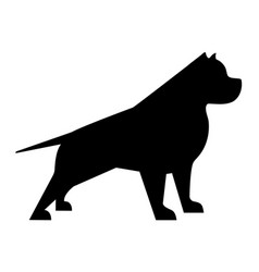 pitbull silhouette vector image