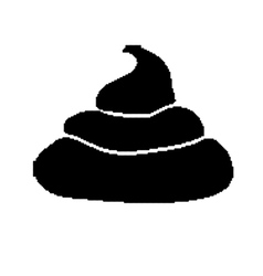 Pixel art style pile of black shit isolated vector