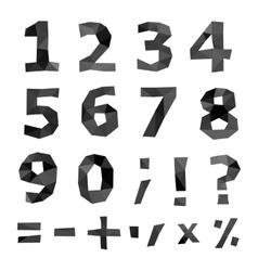 Polygonal number set vector