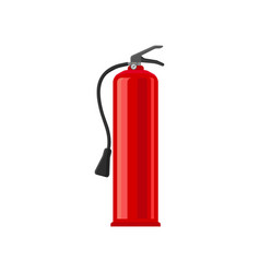 powder fire extinguisher flat vector image