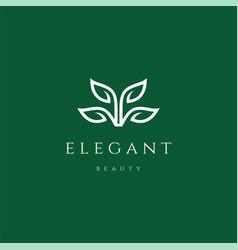 professional elegant luxury flower leaf logo vector image