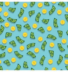 Seamless background with money vector