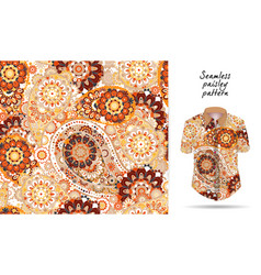 seamless paisley background traditional indian vector image