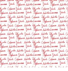 Seamless wallpaper with handwritten text vector