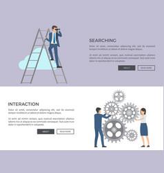 Searching and interaction web vector