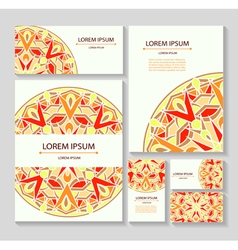Set templates business cards and invitations vector